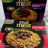 Jual Indomie Goreng REAL MEAT rasa Ayam Jamur & Rendang (mirip bakmi mewah) Murah