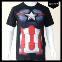 New Baju Pria Captain America Superhero Best Seller