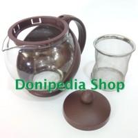 Harga teko kaca saringan teh 500 ml 0 5 liter aurora teapot tea | antitipu.com