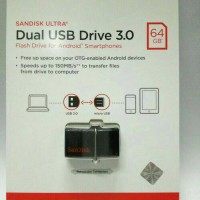 Jual USB OTG 64 GB SANDISK ULTRA (DUAL USB DRIVE 3.0) Murah