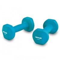 Kettler Dumbell Neoprene 8kg blue / Dumbell Neoprene (8kg/pair) biru