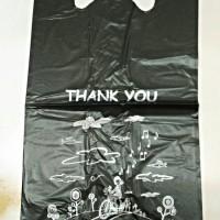 Kantong Plastik/ Kresek ramah lingkungan motif thank you uk 15cm