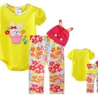 Jumper Forest Kingdom Set 3in1-Yellow Bunnyy / Baby Girl Jumper Set