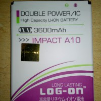 Baterai Batere Battery Log On Double Power Mito Impact A10