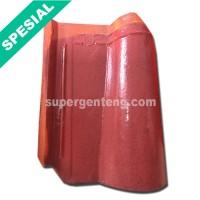 Genteng Morando Glazur Merah Maroon Super Jatiwangi