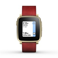 Pebble Time Steel Smartwatch - Red