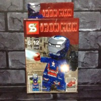 Lego Iron man Iron Patriot Transparan Bootleg