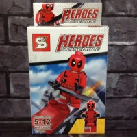 Jual Lego Deadpool red Marvel Comics KW Murah
