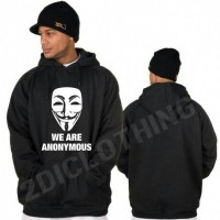 Jaket hoodie sweater we are anonymous keren