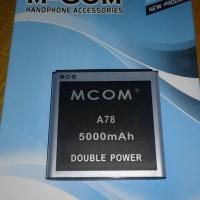 baterai mito A78 double power merk mcom