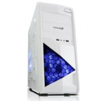 SEGOTEP GAMING CASE SG-W01 - BLACK / WHITE - LED 12CM FAN - USB 3.0