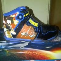 Sepatu Sekolah & Olahraga Anak, FINOTTI Big Hero II, Hitam Biru