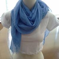 Jual pashmina scarf ombre murah biru Murah