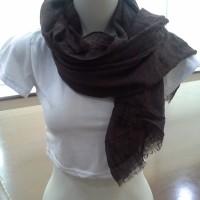 Jual pashmina scarf ombre murah coklat tua Murah