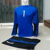 Baju Sergam Kiper Futsal  Sepak bola Biru