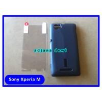 Silikon Sony Xperia M C1904 C1905 C2004 C2005 Hitam Gratis Anti Gores