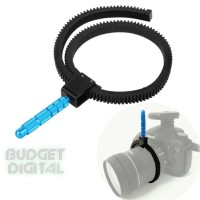 Rubber Follow Focus Gear Ring Belt with Aluminum Alloy Grip for DSLR