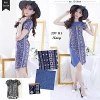 Terusan / Dress / Batik / Kombinasi / Layer / Cotton / Stretch 209HS