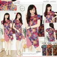 Terusan / Dress / Batik / Kombinasi / Layer / Cotton / Stretch 209HN