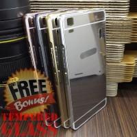 Mirror Case Backcase Hardcase Acrylic Metal Bumper Casing Lenovo A7000