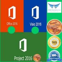 Paket Murah Office 2016 Pro Plus + Visio 2016 Pro +Project 2016 Pro .