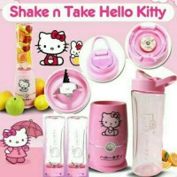 Shake n Take Hello Kitty 2 Botol / Gelas / Blender / Juicer