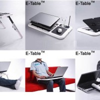 Meja Laptop Portable E-Table T04 Notebook Netbook Desk with fan
