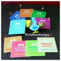 Kartu Souvenir - Ucapan Terima Kasih uk Pernikahan (Thank You Card)