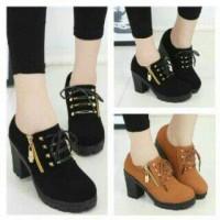harga Sepatu Heel Boot Wanita/Cewek Stud Zipper Jual dg Harga Murah Tokopedia.com