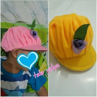 topi bayi/ lucu dan cantik/ bahan bludru bulu lembut