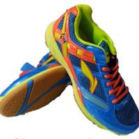 sepatu badminton lining super star II biru original
