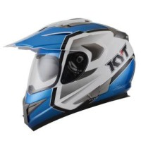harga Helm KYT Enduro Super Moto Cross Visor Supermoto White Blue Tokopedia.com