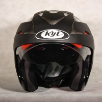 Helm KYT Forever Black Solid Visor Half Face Hitam Best Seller