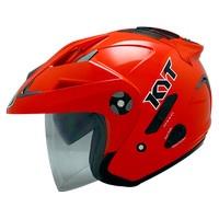 Helm KYT Forever Red Solid Visor Half Face Merah Best