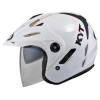 Helm KYT Venom RF 2 White Solid Visor Half Face Putih RR