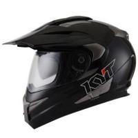 harga Helm KYT Enduro Super Moto Cross Visor Supermoto Black Solid Tokopedia.com