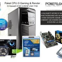 Paket CPU I3 Haswell Gaming & Render