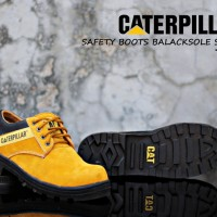 SEPATU CATERPILLAR LOW SAFETY BOOTS SUEDE TAN