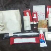bvlgari women travel kit Emirates business class
