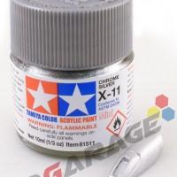 tamiya acrylic X-11 Chrome Silver ( cat gundam model kit)