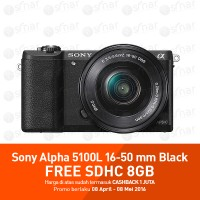 Sony Alpha A5100 with 16-50mm OSS black + memory card 8gb