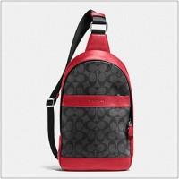 Tas Authentic COACH men campus pack sling back f72043 red original