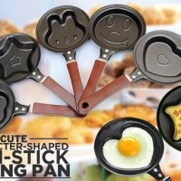Teflon Mini Non Stick Frying Fry Pan Wajan Karakter Motif Anti Lengket
