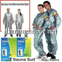Baju Sauna / Sauna Suit Silver (Size L, XL & XXL)