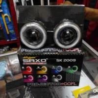Foglamp Projector Angel Eyes Saxo 8 Cm