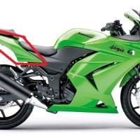 Body Belakang Kawasaki Ninja 250R Original, Ready Stock