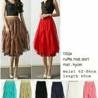 midi ruffled skirt