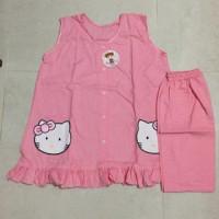 Baju Tidur Full Kancing Hello Kitty / Baju Menyusui