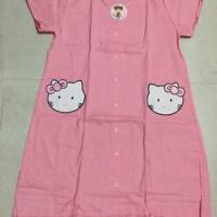 Baju Tidur / Daster Hello Kitty Full Kancing / Baju Menyusui