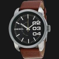 Diesel Franchise DZ1513 Black Dial Brown Leather Strap Watch
